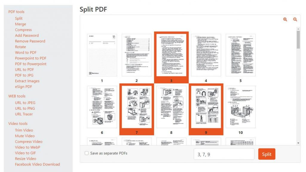 pdf szétszedése