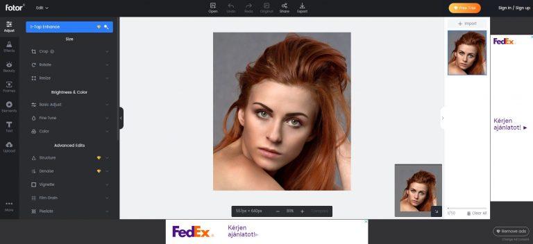 Fotor online képszerkesztés