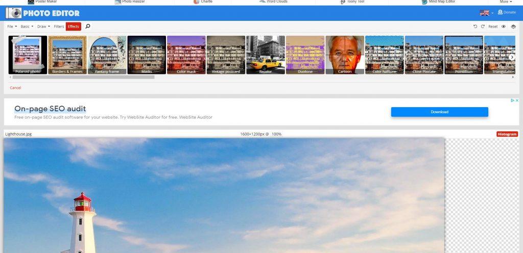 Online képszerkesztő program
