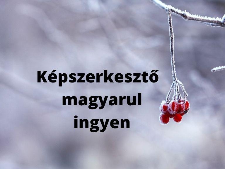 képszerkesztő magyarul ingyen
