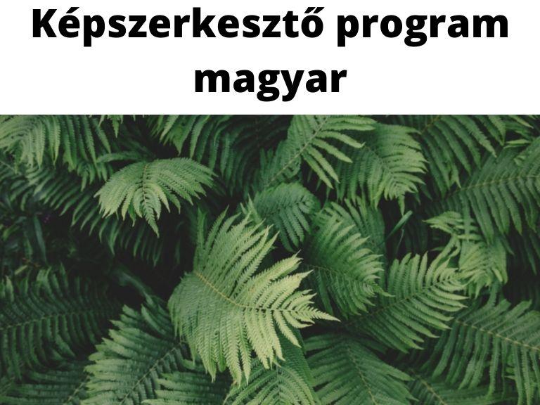 képszerkesztő program magyar