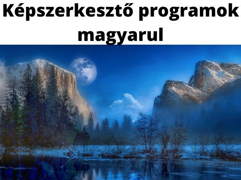 képszerkesztő programok magyarul